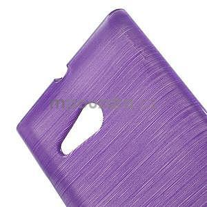 Gélový obal Brush na Nokia Lumia 730/735 - fialový - 4