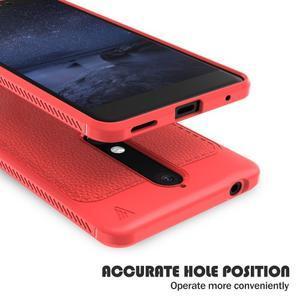 IVS gélový obal so štýlovou textúrou na Nokia 6.1 - červený - 4