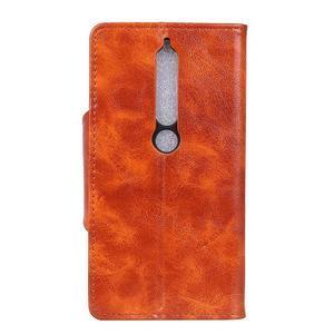 Retro PU kožené puzdro na Nokia 6.1 - hnedé - 4