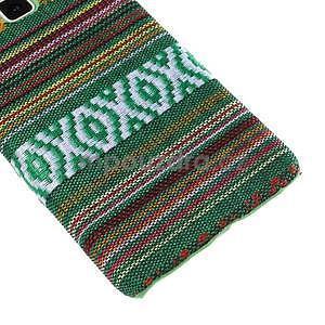 Obal potažený látkou na Samsung Galaxy A3 - zelený - 4