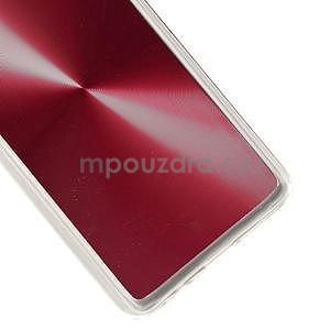 Metalický plastový obal pre Samsung Galaxy A3    - červený - 4