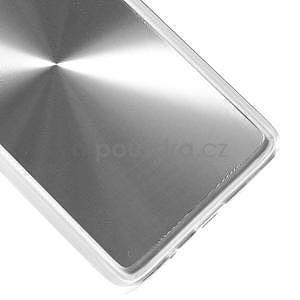 Metalický plastový obal na Samsung Galaxy A3 - strieborný - 4