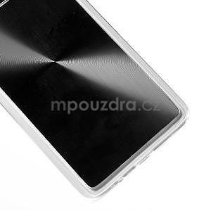 Metalický plastový obal na Samsung Galaxy A3 - čierny - 4