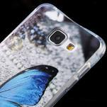 Tvarovaný gelový obal na Samsung Galaxy A5 (2016) - modrý motýl - 4/6