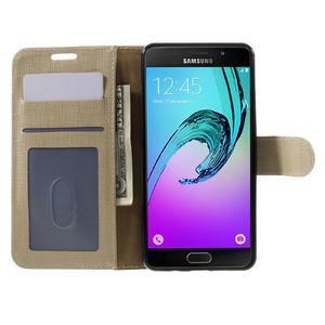 Cloth peňaženkové puzdro pre Samsung Galaxy A5 (2016) - champagne - 4
