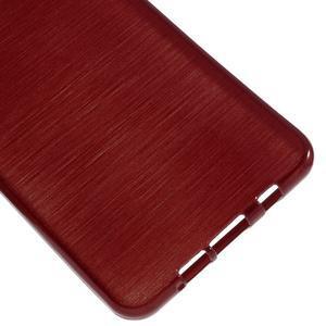 Brush gélový obal pre Samsung Galaxy A5 (2016) - červený - 4