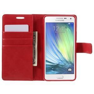 Luxusný PU kožené puzdro pre mobil Samsung Galaxy A5 (2016) - červené - 4