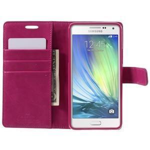 Luxusný PU kožené puzdro pre mobil Samsung Galaxy A5 (2016) - rose - 4