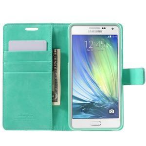 Luxusný PU kožené puzdro pre mobil Samsung Galaxy A5 (2016) - cyan - 4