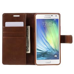 Luxusný PU kožené puzdro pre mobil Samsung Galaxy A5 (2016) - hnedé - 4