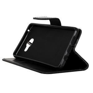 PU kožené puzdro pre mobil Samsung Galaxy A5 (2016) - čierne - 4
