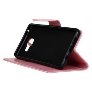 PU kožené puzdro pre mobil Samsung Galaxy A5 (2016) - ružové - 4