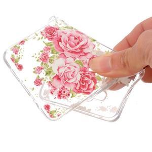 Transparentní gelový obal na Samsung Galaxy A5 (2016) - růže - 4