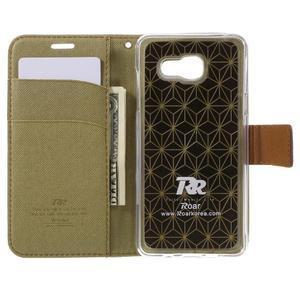 Roarlux peněženkové pouzdro na Samsung Galaxy A5 (2016) - khaki - 4