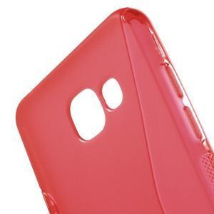 S-line gélový obal pre mobil Samsung Galaxy A5 (2016) - červený - 4