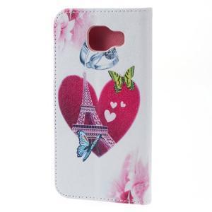 Softy peňaženkové puzdro pre Samsung Galaxy A5 (2016) - srdca Eiffel - 4