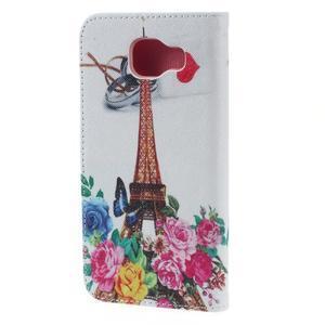 Softy peňaženkové puzdro pre Samsung Galaxy A5 (2016) - Eiffelka a kvety - 4