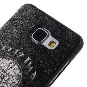 Gélový obal s koženkovým vzorem pre Samsung Galaxy A5 (2016) - lebka - 4