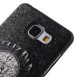 Gélový obal s koženkovým vzorem pre Samsung Galaxy A5 (2016) - lebka - 4/6