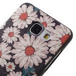 Gelový obal s koženkovým vzorem na Samsung Galaxy A5 (2016) - sedmikrásky - 4/6