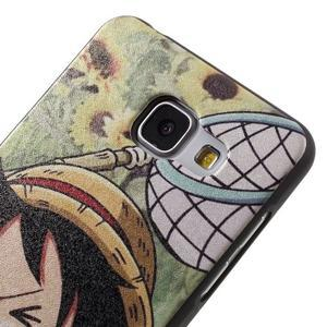 Gelový obal s koženkovým vzorem na Samsung Galaxy A5 (2016) - Luffy - 4