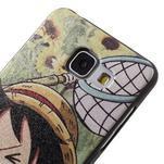Gelový obal s koženkovým vzorem na Samsung Galaxy A5 (2016) - Luffy - 4/6