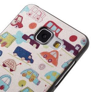 Gélový obal s koženkovým vzorem pre Samsung Galaxy A5 (2016) - autíčka - 4