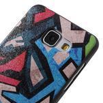 Gélový obal s koženkovým vzorem pre Samsung Galaxy A5 (2016) - grafity - 4/6