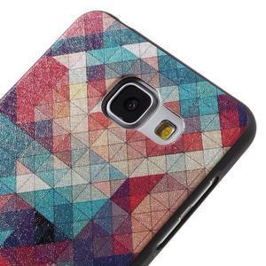 Gelový obal s koženkovým vzorem na Samsung Galaxy A5 (2016) - hexagon - 4