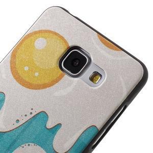 Gélový obal s koženkovým vzorem pre Samsung Galaxy A5 (2016) - volská oka - 4