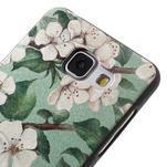 Gélový obal s koženkovým vzorem pre Samsung Galaxy A5 (2016) - kvety - 4/6
