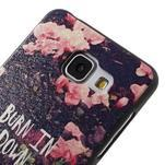 Gelový obal s koženkovým vzorem na Samsung Galaxy A5 (2016) - růže - 4/6
