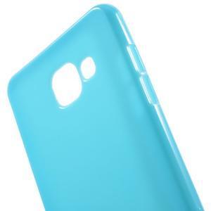 Jelly lesklý pružný obal na Samsung Galaxy A5 (2016) - modrý - 4