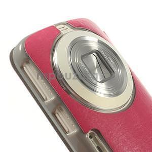 Růžové peňaženkové puzdro na Samsung Galaxy K Zoom C115 - 4