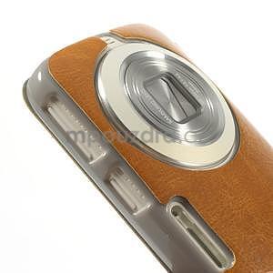 Oranžové peňaženkové puzdro na Samsung Galaxy K Zoom C115 - 4