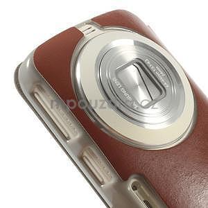 hnedé peňaženkové puzdro na Samsung Galaxy K Zoom C115 - 4