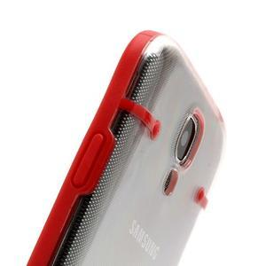 Obal na mobil se svítícími hranami na Samsung Galaxy S4 - červené - 4