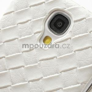 PU kožené puzdro pre Samsung Galaxy S4 - biele - 4
