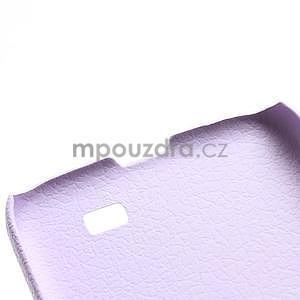 Plastové poudro pre Samsung Galaxy S4 - fialové - 4