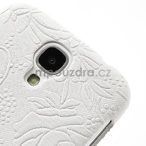 Kvetinové puzdro pre Samsung Galaxy S4 - biele - 4