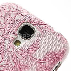 Květinové pouzdro na Samsung Galaxy S4 - růžové - 4