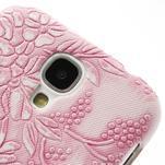 Květinové pouzdro na Samsung Galaxy S4 - růžové - 4/4