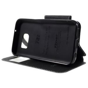 Diary puzdro s okienkom pre Samsung Galaxy S7 - biele - 4