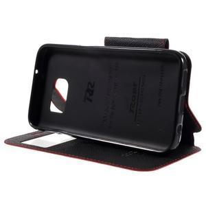 Diary puzdro s okienkom pre Samsung Galaxy S7 - červené - 4