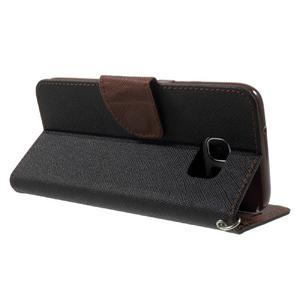 Mercury Orig PU kožené puzdro pre Samsung Galaxy S7 - čierne/hnedé - 4
