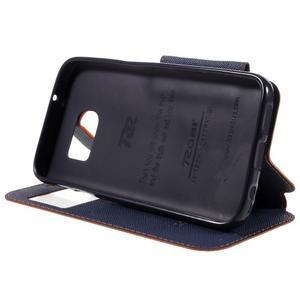 Diary puzdro s okienkom pre Samsung Galaxy S7 - oranžové - 4