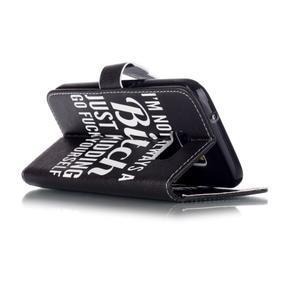 Cross peněženkové pouzdro na Samsung Galaxy S7 - bitch - 4