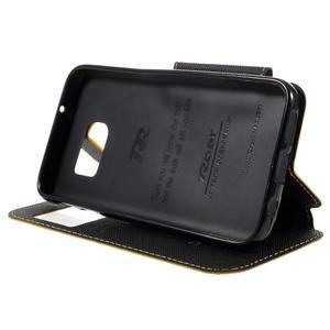 Diary puzdro s okienkom pre Samsung Galaxy S7 - žlté - 4