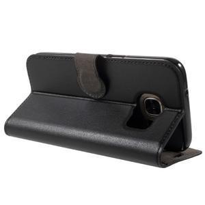 Leat PU kožený obal pre Samsung Galaxy S7 - čierný - 4