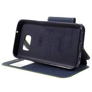 Diary pouzdro s okýnkem na Samsung Galaxy S7 - zelené - 4